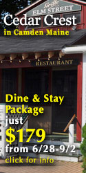 Cedar Crest Inn Dine & Stay Package