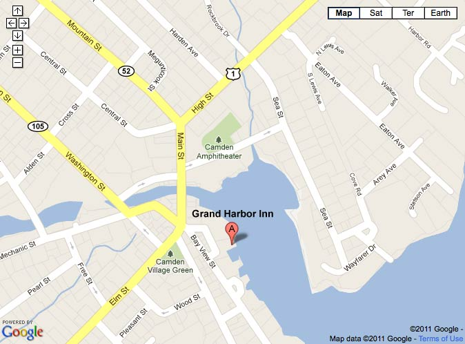 Grand Harbor Inn map