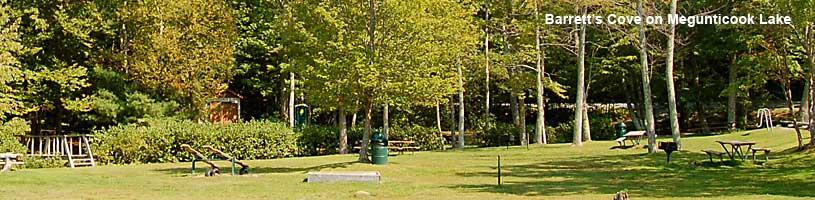 Picnic area at Barrett's Cove Megunticook Lake