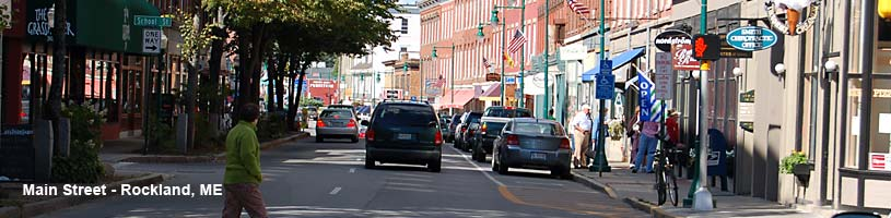 Main Street in Rockland Maine